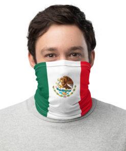 neck gaiter mexico flag