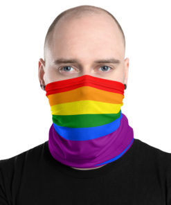 neck gaiter lgbt gay pride flag