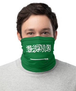 neck gaiter saudi arabia flag