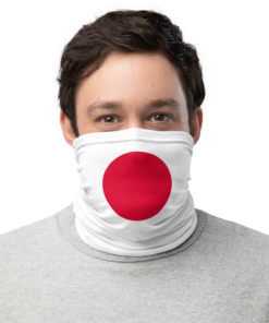 neck gaiter japan flag