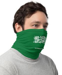 neck gaiter saudi arabia flag