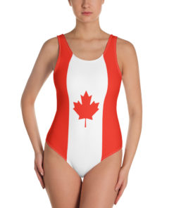 Swimsuit Canada flag
