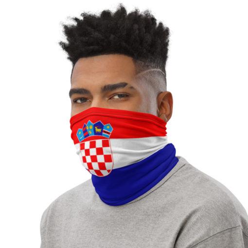 Neck Gaiter Croatia Flag