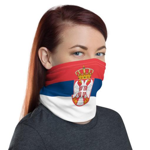 Neck Gaiter Serbia Flag
