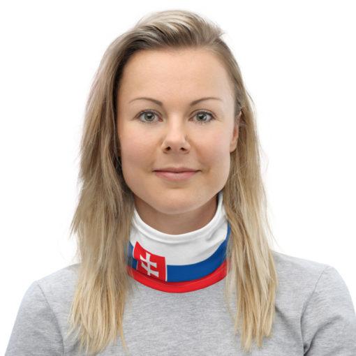 Neck Gaiter Slovakia Flag