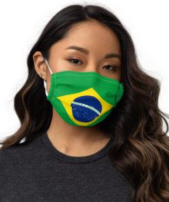 Face mask Brazil Flag