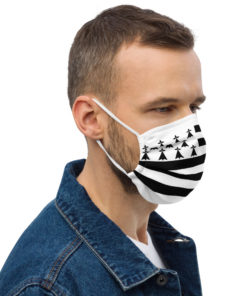 Face mask Brittany Flag